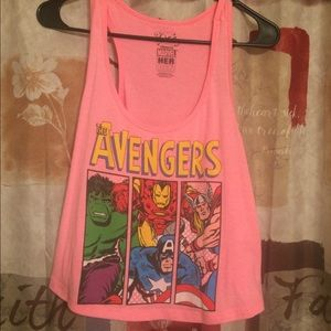 Bright Pink Marvel The Avengers Crop Top Tank